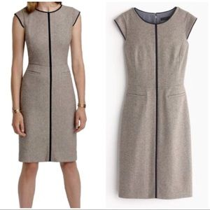 J. Crew cap sleeve career dress in Donegal wool